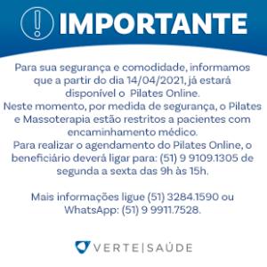 Pilates Online já está disponível