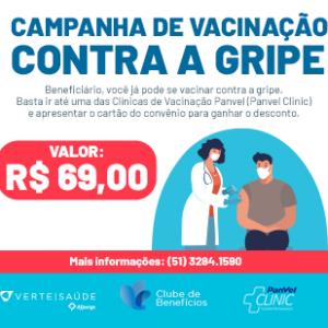 Beneficiários já podem tomar a vacina contra a Gripe